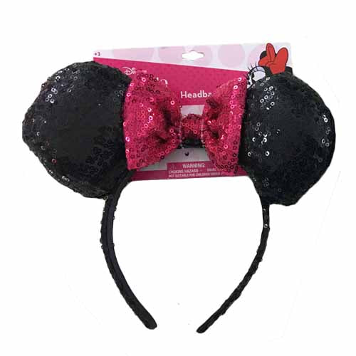 mm1737b-LA - Minnie Mouse 1 on a card sequin headband (Available now)