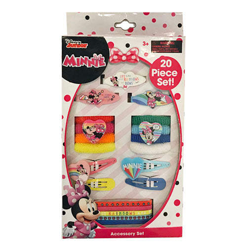 mm1807-LA -Minnie Mouse 20pc accessory set on a box (Available Now)