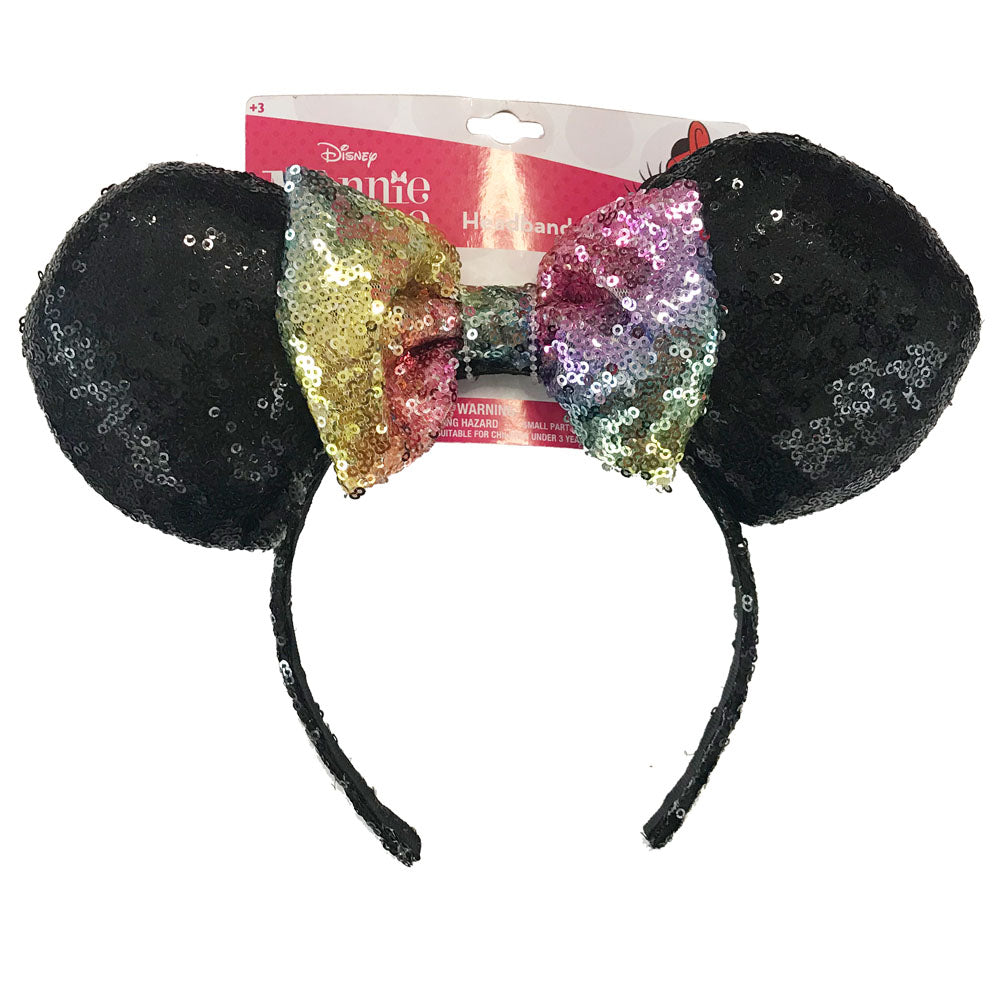 mm1820-LA - Minnie Mouse 1 on a card sequin headband (Available Now)