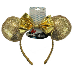 mm1885-LA - Minnie Mouse 1 on a card gold sequin headband (Accepting Pre-order June 2019)