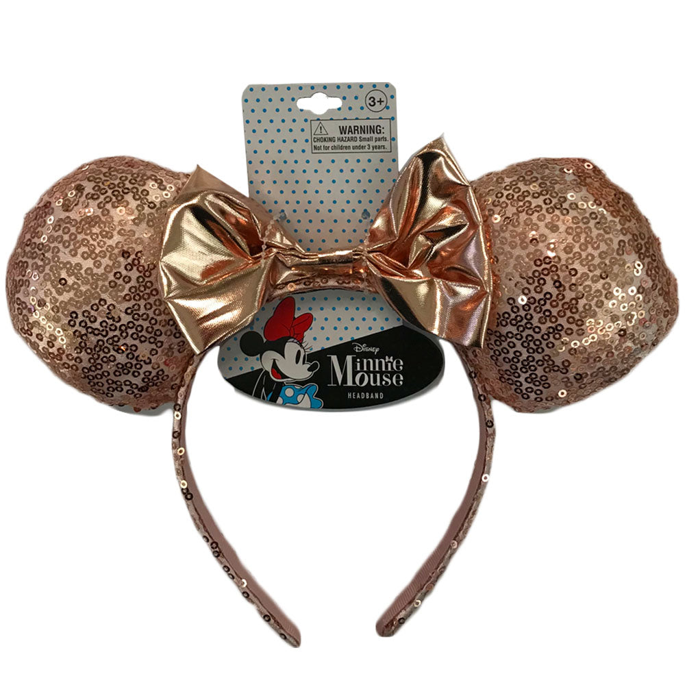 mm1886-LA - Minnie Mouse 1 on a card pink sequin headband (Accepting Pre-order June 2019)