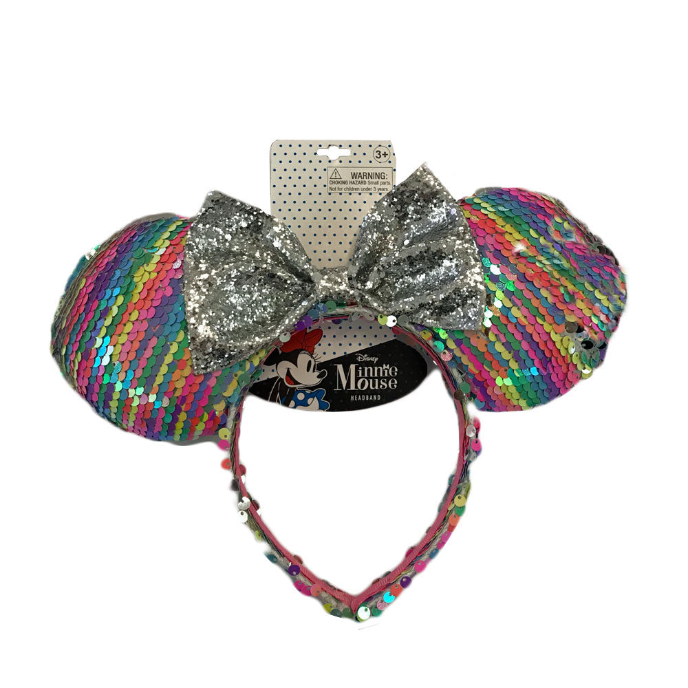 mm2033-LA - Minnie Mouse 1 on a card sequin headband (Pre-order June 2019)