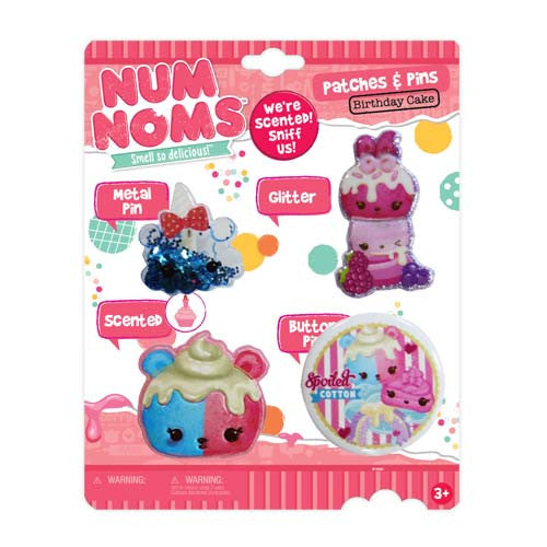 nn047-NJ - Num Noms scented PATCHES and pins pack (Available Now)