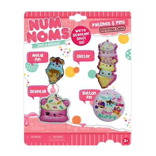 nn048-NJ - Num Noms scented PATCHES and pins pack (Available Now)