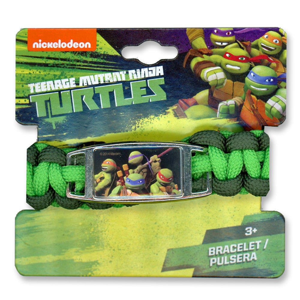 nt109-NJ - Ninja Turtles 1 on a card paracord bracelet (Available now) , Licensed - JOA, Madly Deeply Co. - 1