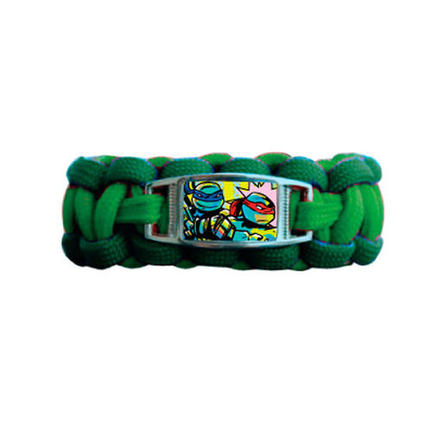 nt210-NJ - Ninja Turtles 1 on a card paracord bracelet with charm (Available Now) , Licensed - INV, Madly Deeply Co.