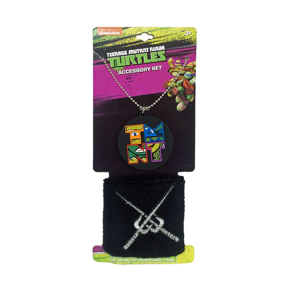 nt238-NJ - Ninja Turtles  rubber charm necklace and wristband set (Available Now) , Licensed - JOU, Madly Deeply Co. - 1