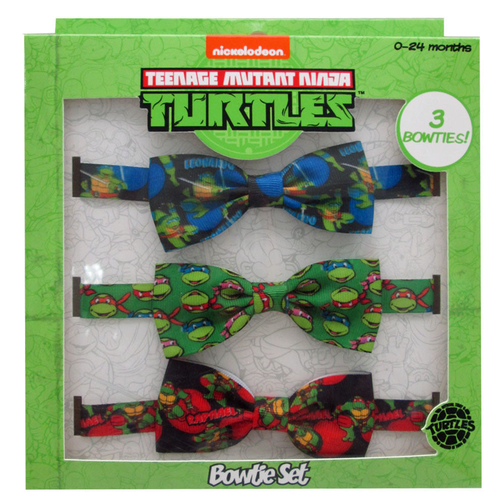 nt245-NJ - Ninja Turtles 3 on printed bow set  (Available Now) , Licensed - INV, Madly Deeply Co. - 1