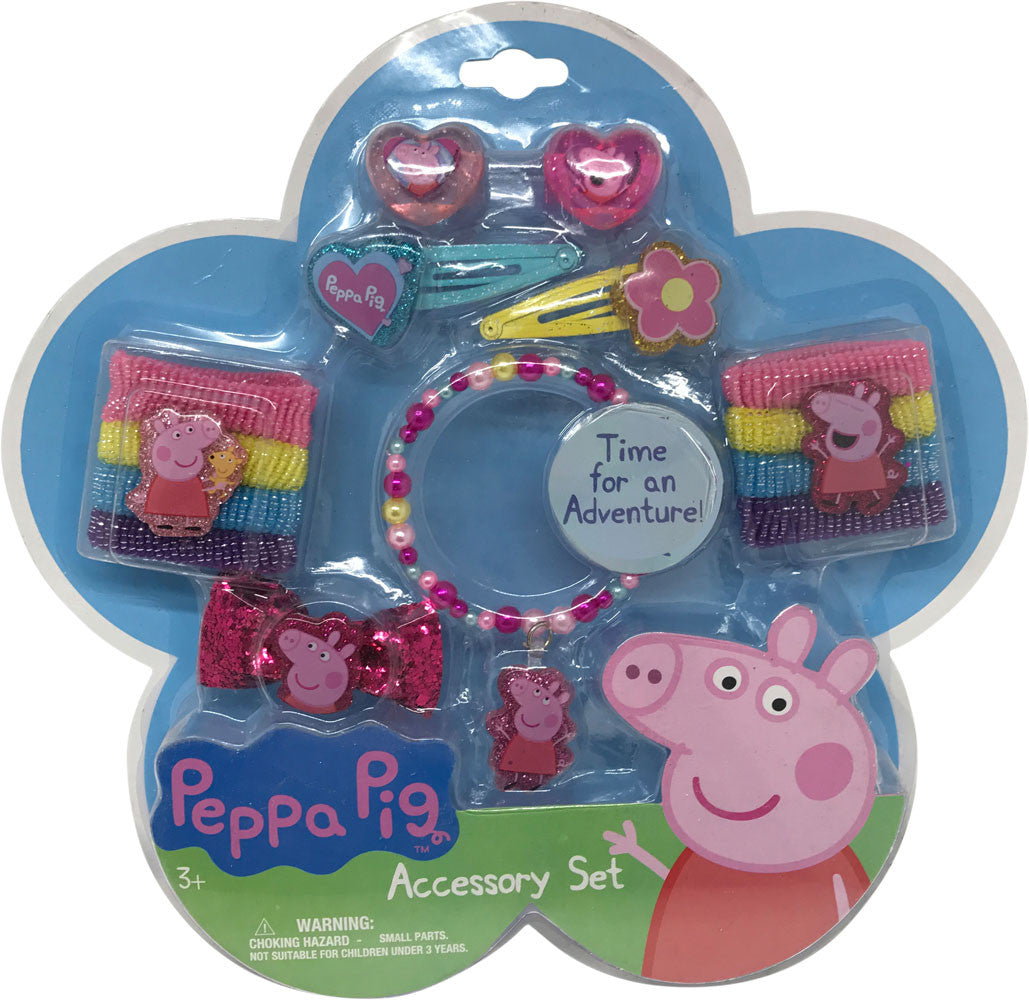 pg179-NJ - Peppa Pig hair and jewelry accessory set (Available Now)