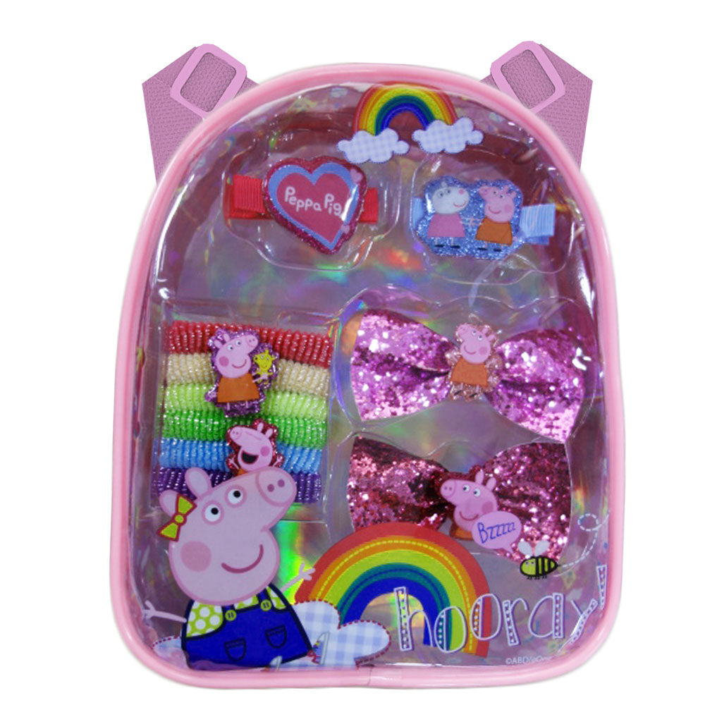 pg198-NJ - Peppa Pig backpack with assorted hair accessories (Available Now)