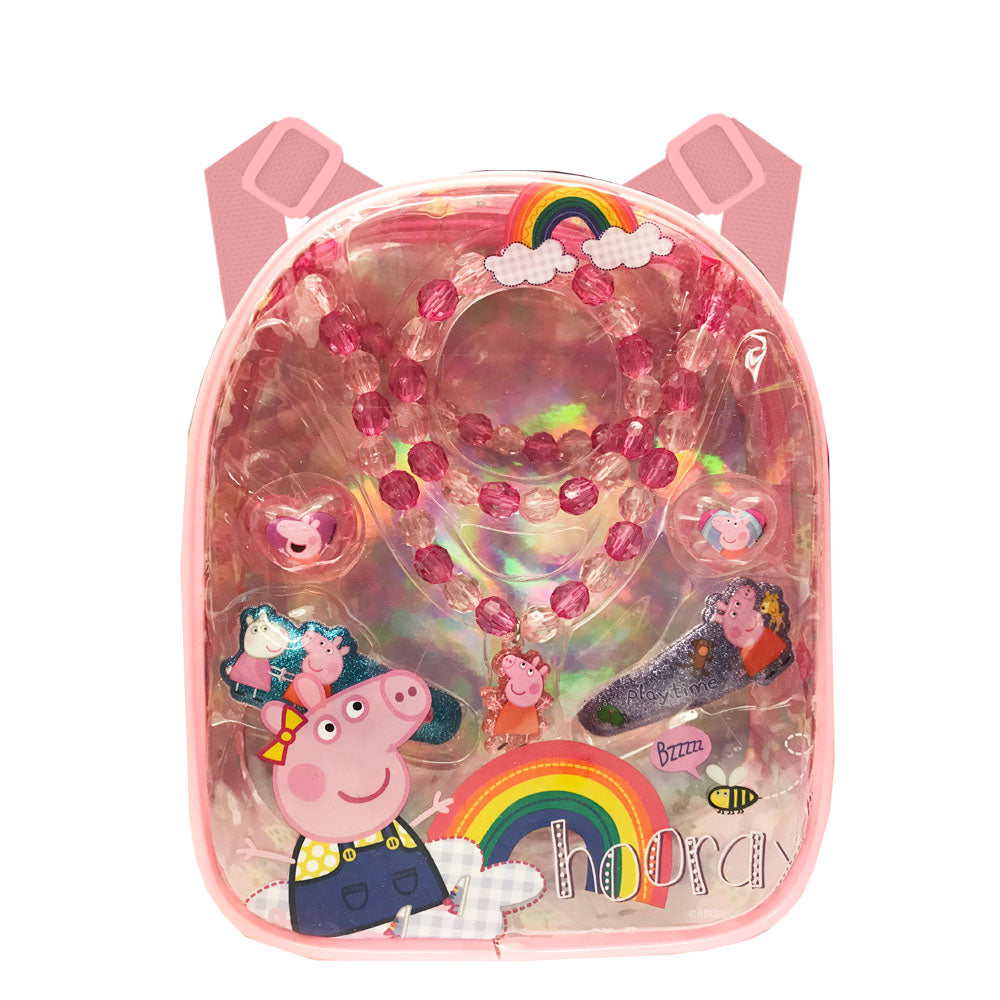 pg199-NJ - Peppa Pig backpack with assorted hair accessories (Available Now)