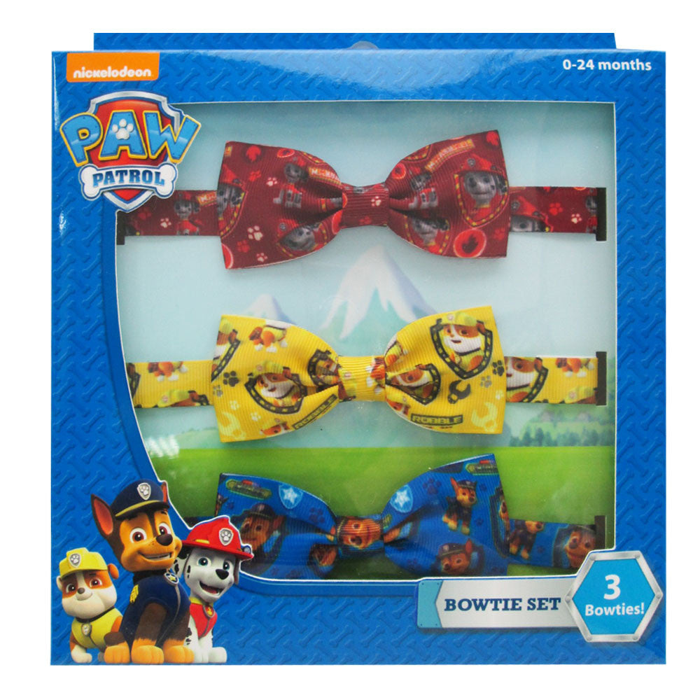 pw025-NJ - Paw Patrol 3 on printed bow set  (Available Now) , Licensed - INV, Madly Deeply Co. - 1