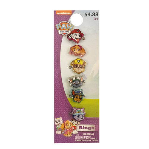 pw144-LA -  Paw Patrol  6 on a card RINGs (Available Now)