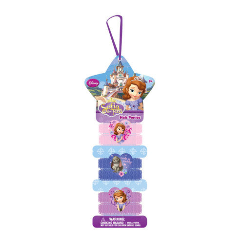 sa051-LA - Sofia the First 6pc on a card terry pony (Available now) , Licensed - INV, Madly Deeply Co.