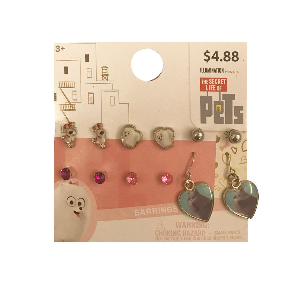 sl134-LA - Secret Life of Pets 6 pairs earrings (Available Now)