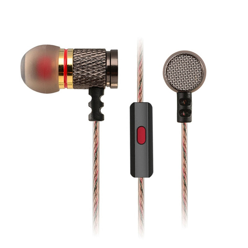 Special Edition Gold Plated Housing Earphone With Microphone