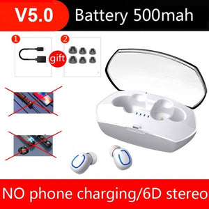 Bluetooth Earphone-6D Stereo Wireless Earphones