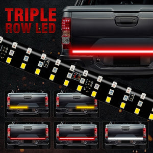 Triple Row Truck Tailgate Led Strip Light Bar