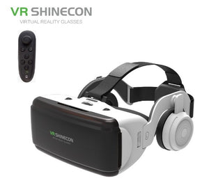 Mini Glasses Virtual Reality Glasses Headset with headphone