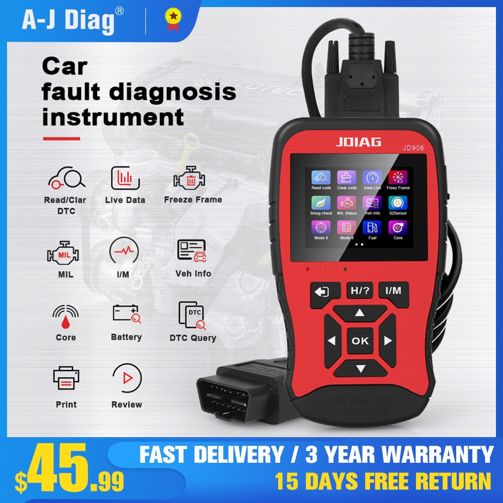ScannerCar Fault Diagnostic Instrument Engine Reading Code Card Detector