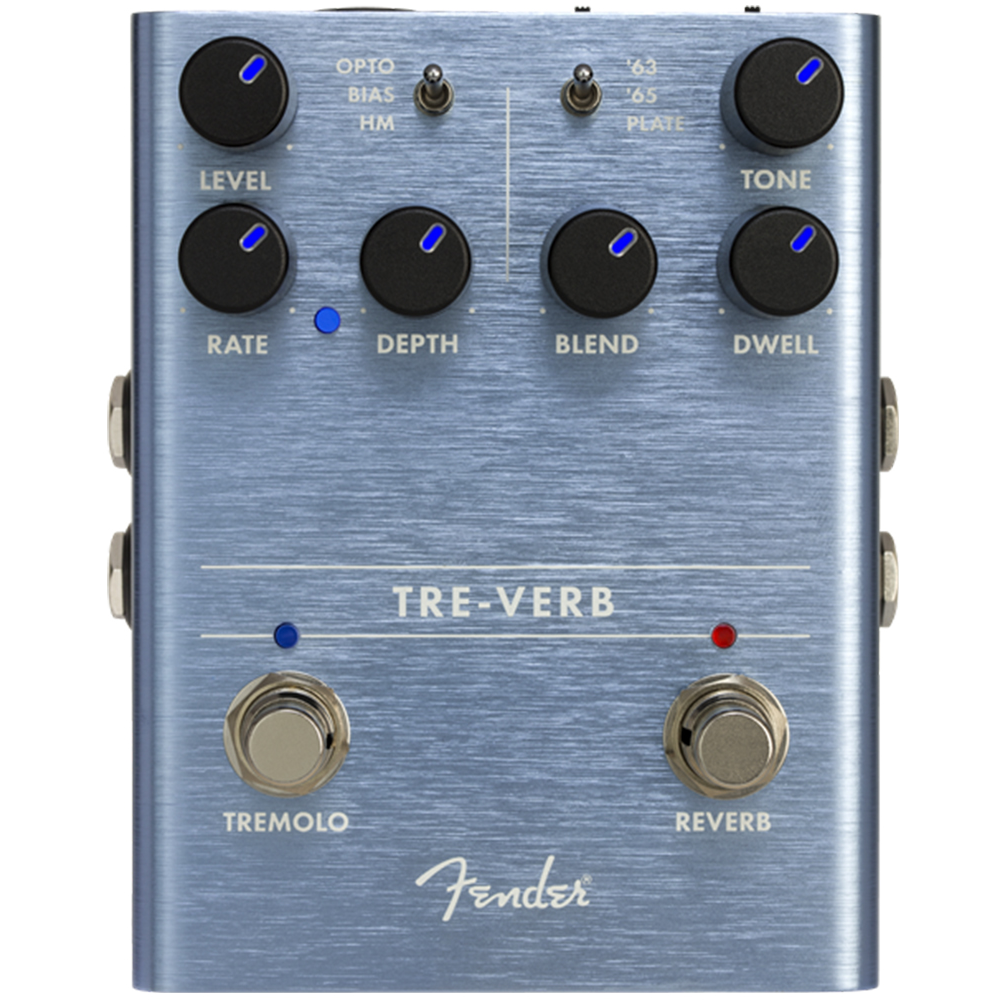 Fender Tre-Verb Tremolo/Reverb Effects Pedal