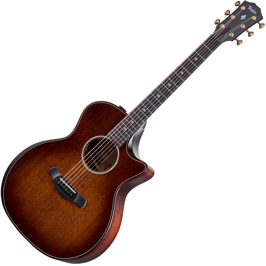 Taylor 324ce Builders Edition 2020 V-Class - Mahogany Top & Urban Ash Back/Sides - Tobacco Kona Burst
