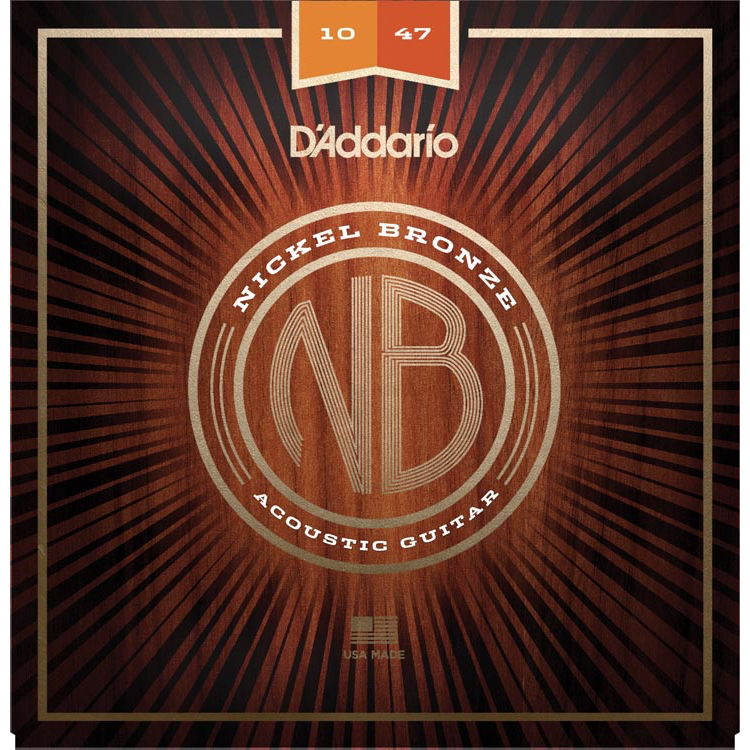 D'Addario NB1047 Nickel Bronze Acoustic Guitar Strings - Extra Light - 10-47