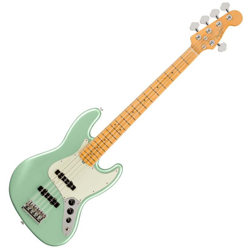 Fender American Professional II Jazz Bass V - Maple/Mystic Surf Green