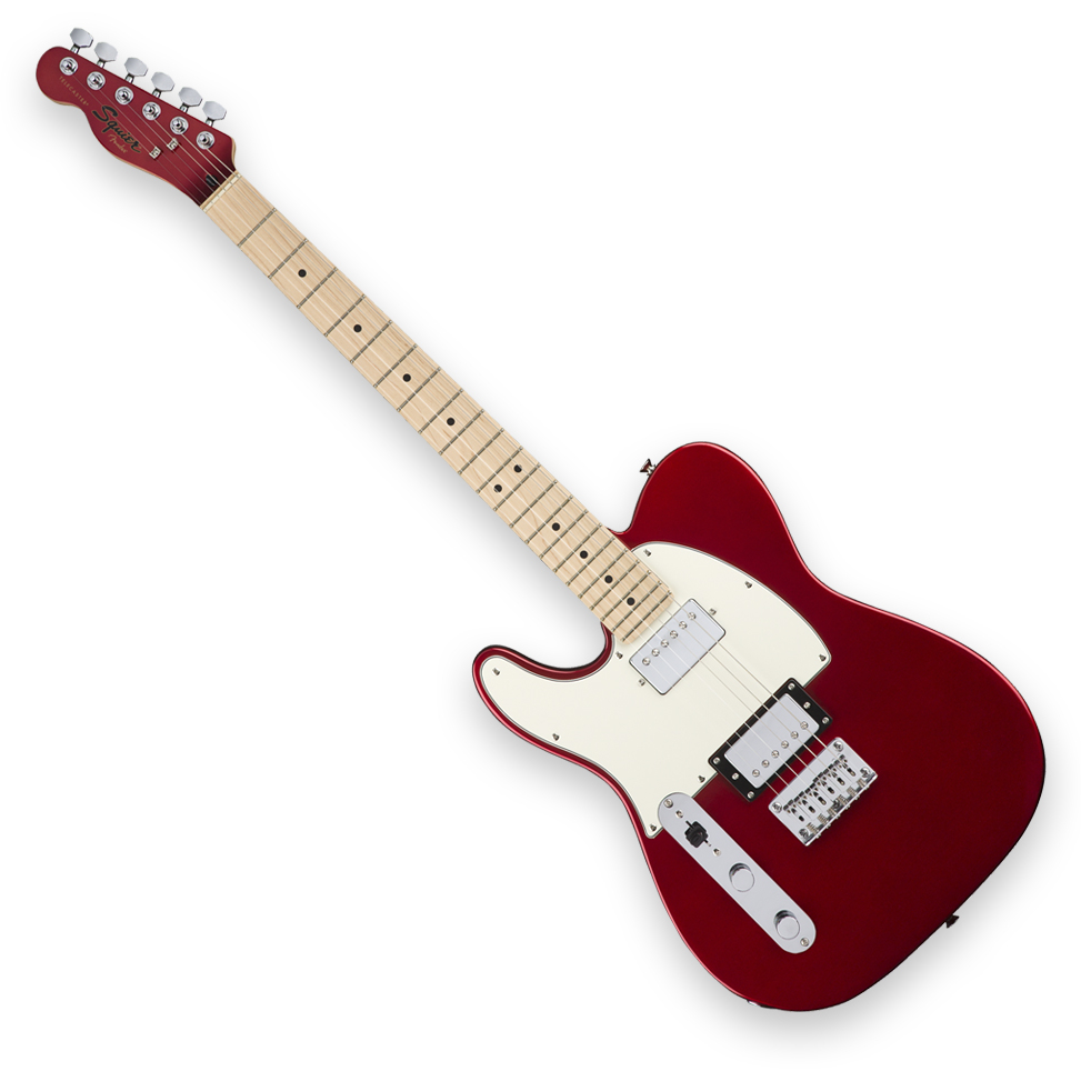 Squier Contemporary Telecaster HH Left-Handed - Maple Fingerboard - Dark Metallic Red