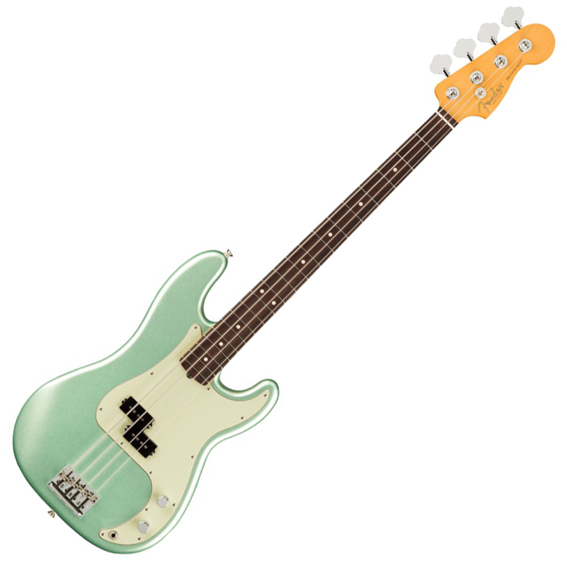 Fender American Professional II Precision Bass - Rosewood/Mystic Surf Green