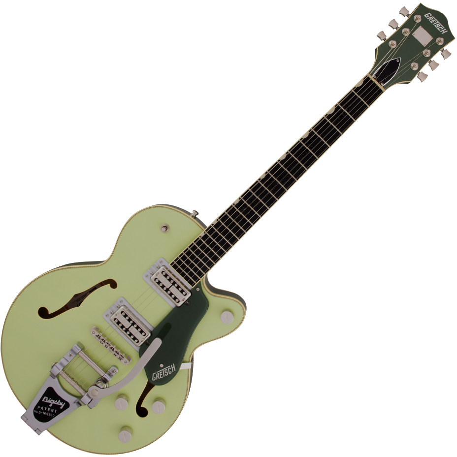 Gretsch G6659T Players Edition Broadkaster Jr. Center Block Single-Cut with String-Thru Bigsby - USA Full'Tron™ Pickups - Ebony Fingerboard - Two-Tone Smoke Green