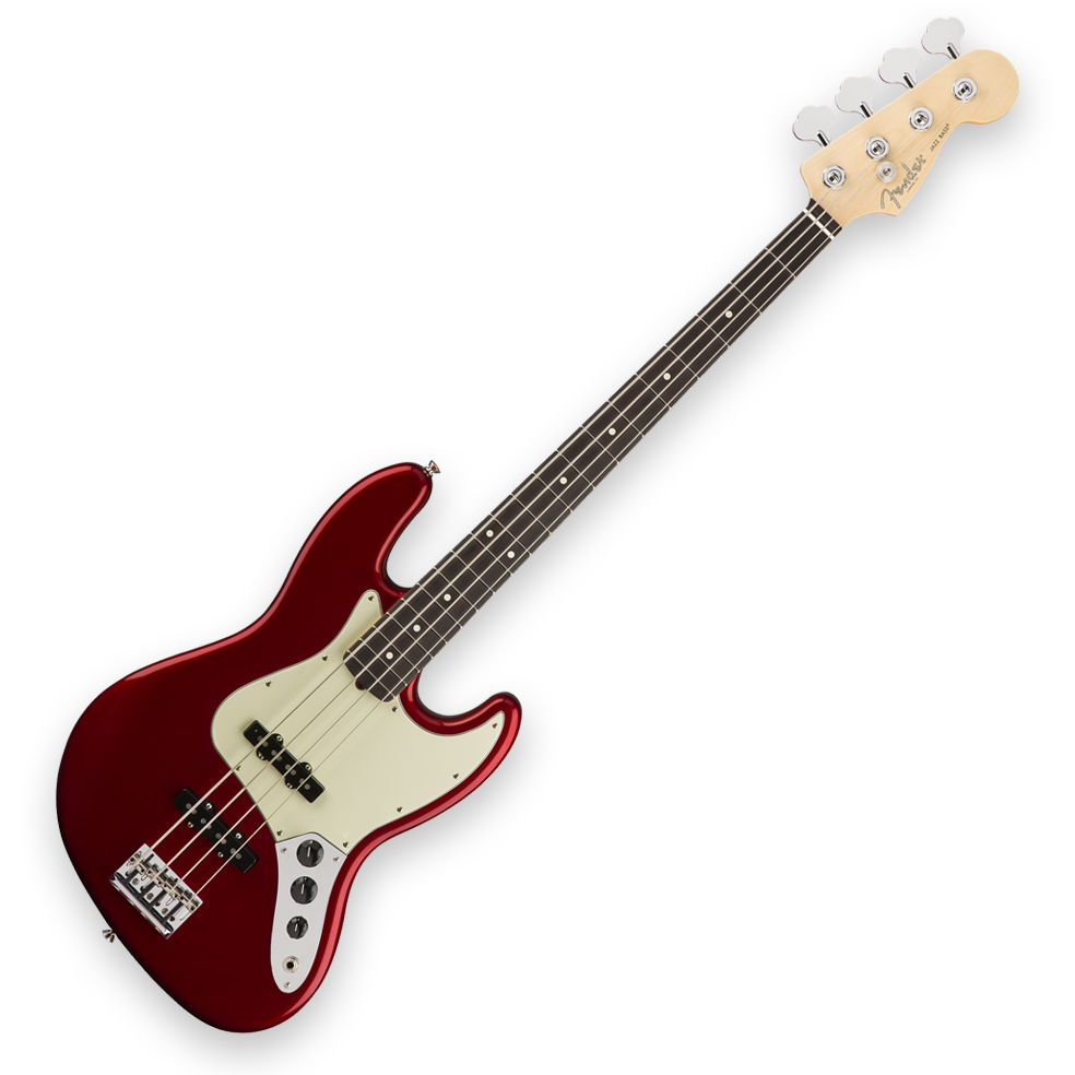 Fender American Pro Jazz Bass - Rosewood Fingerboard - Candy Apple Red