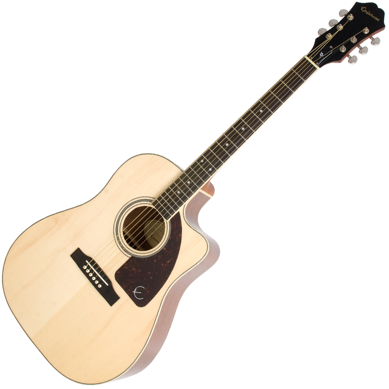 Epiphone AJ-220SCE Solid Top Ac/Electric Natural - Natural