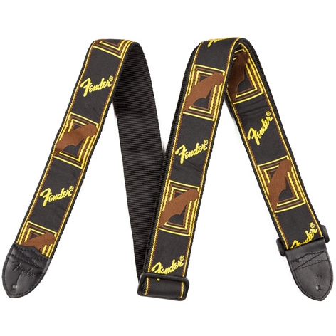 Fender Strap 2 Inch Monogrammed Black/Yellow/Brown