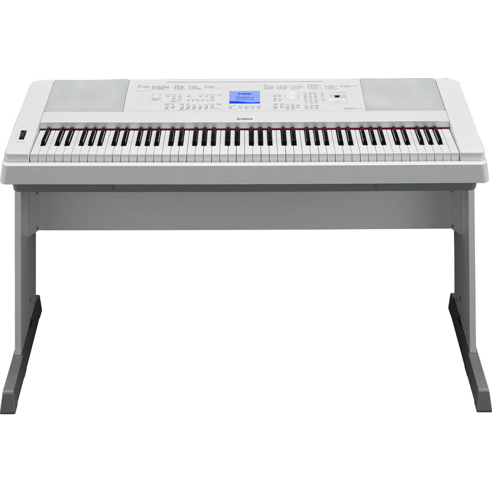 Yamaha DGX660WH Portable Grand Piano - White w/Bonus LP7A 3-Pedal Unit