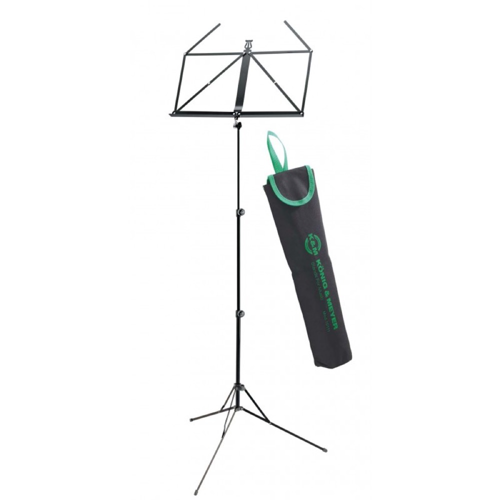 K&M 10199 Music Stand in Bag - Black
