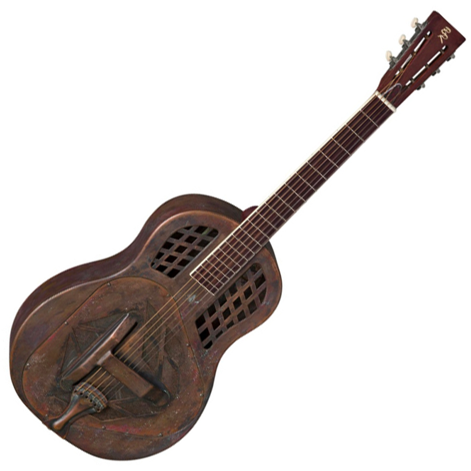 Baton Rouge 12 Fret Tricone Resonator - Bell Brass