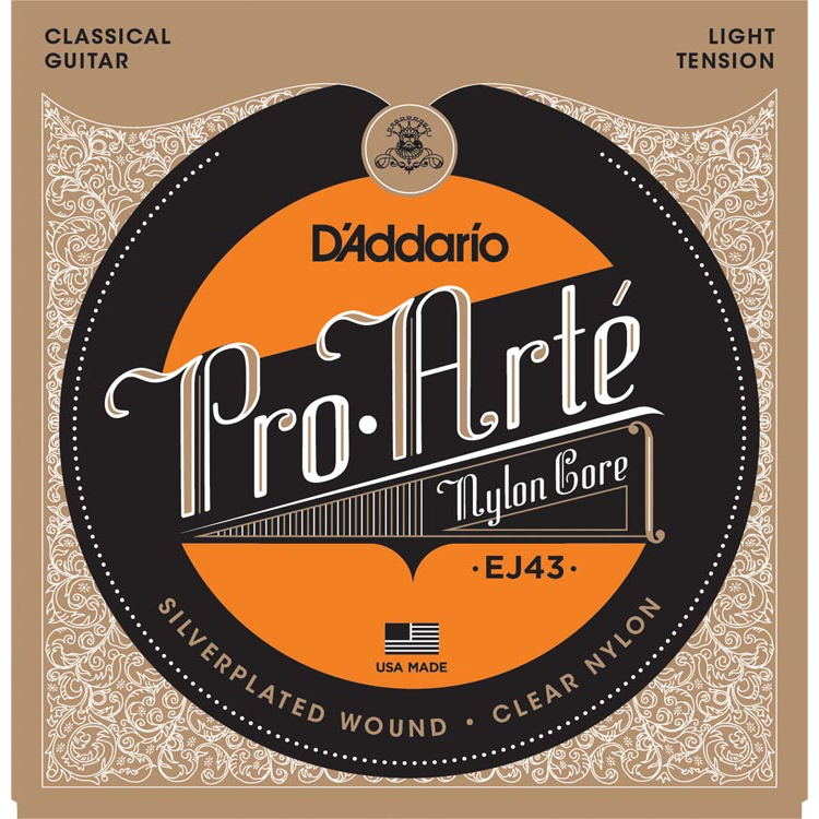 D'Addario EJ43 Pro-Arte Nylon Classical Guitar Strings - Light Tension