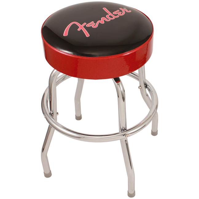 "Fender Stool 24"" Black w/Red sides"