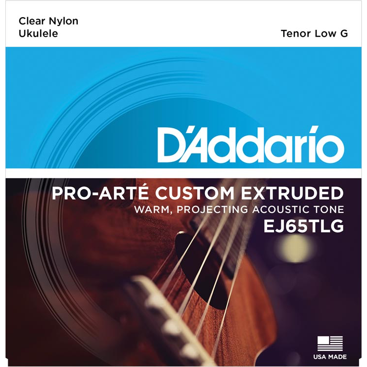 D'Addario EJ65TLG Pro-Arte Custom Extruded Nylon Ukulele Strings - Tenor Low-G