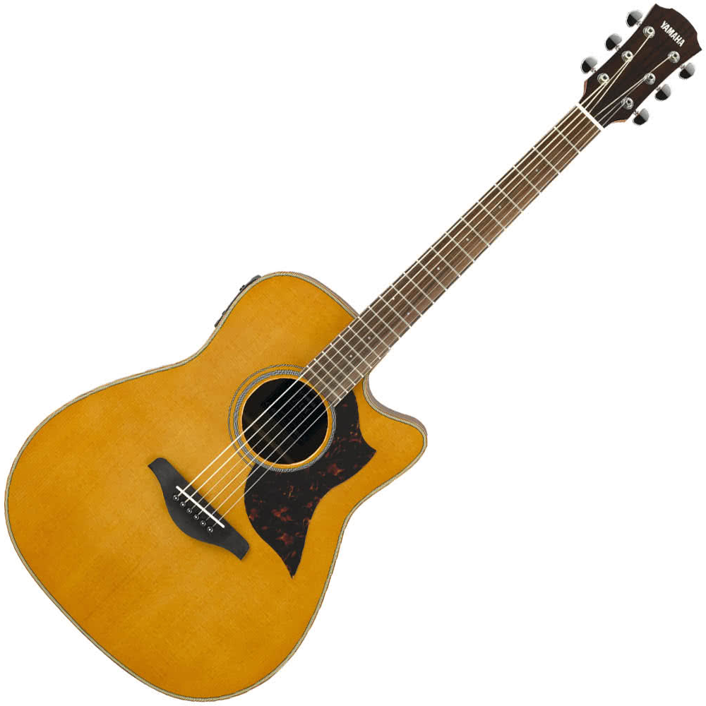 Yamaha A1M//02 Modified Dreadnaught Acoustic Guitar w/solid Spruce top - Mahogany back and sides - Vintage Natural