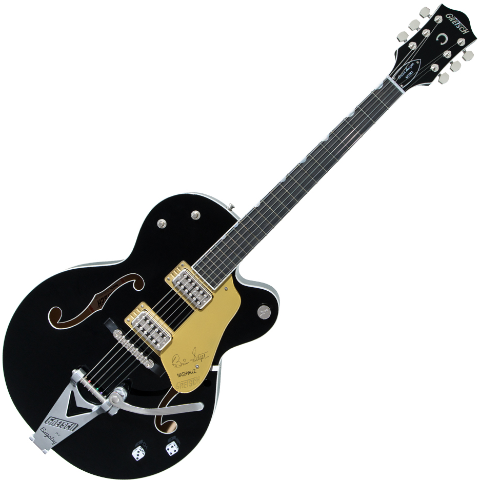 Gretsch G6120T-BSNSH Brian Setzer Signature Nashville Hollow Body with Bigsby - Ebony Fingerboard - Black Lacquer