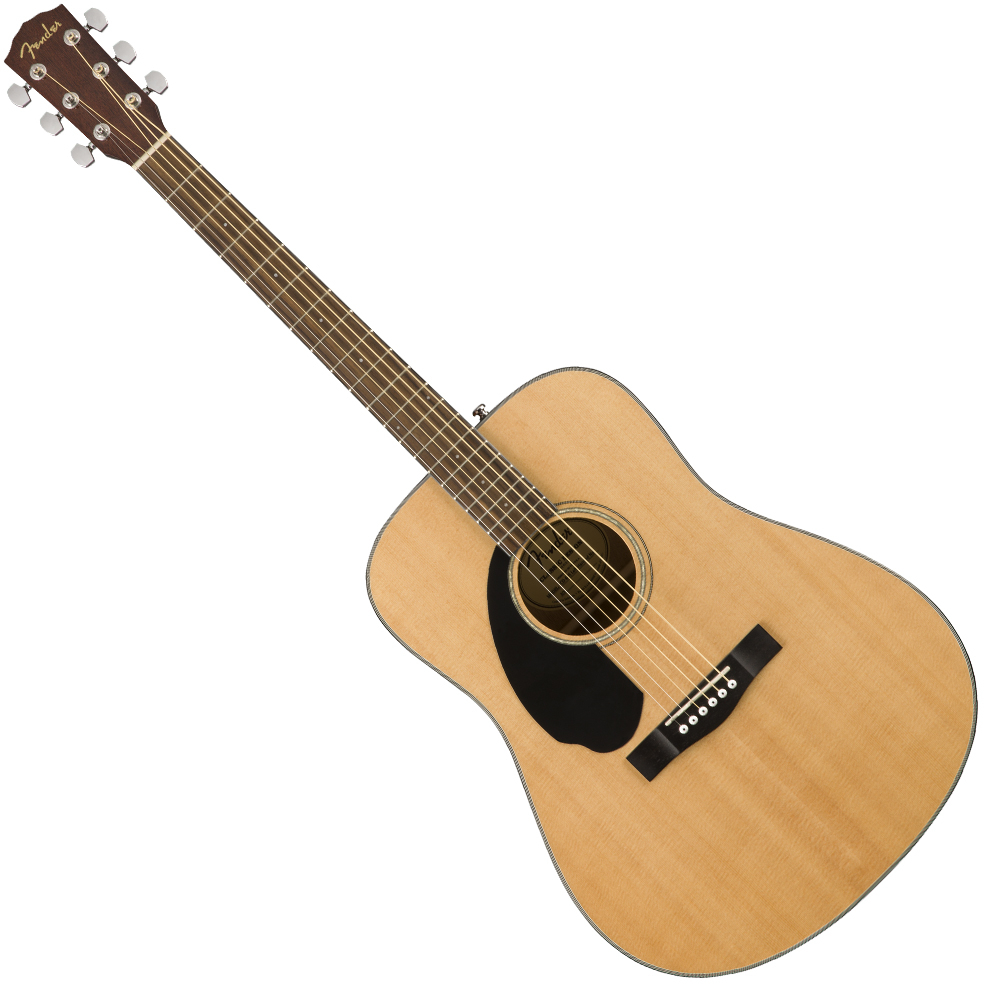 Fender CD-60S Dreadnought Left-Handed - Natural, Walnut Fingerboard