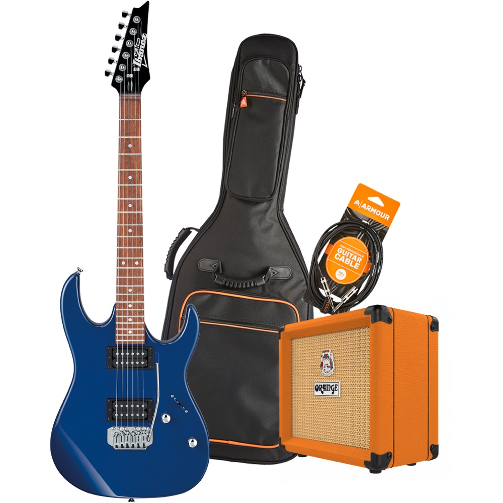 Ibanez RX22EXBL Electric Guitar Pack with Orange Crush 12 Amplifier - Armour Gig Bag and Lead