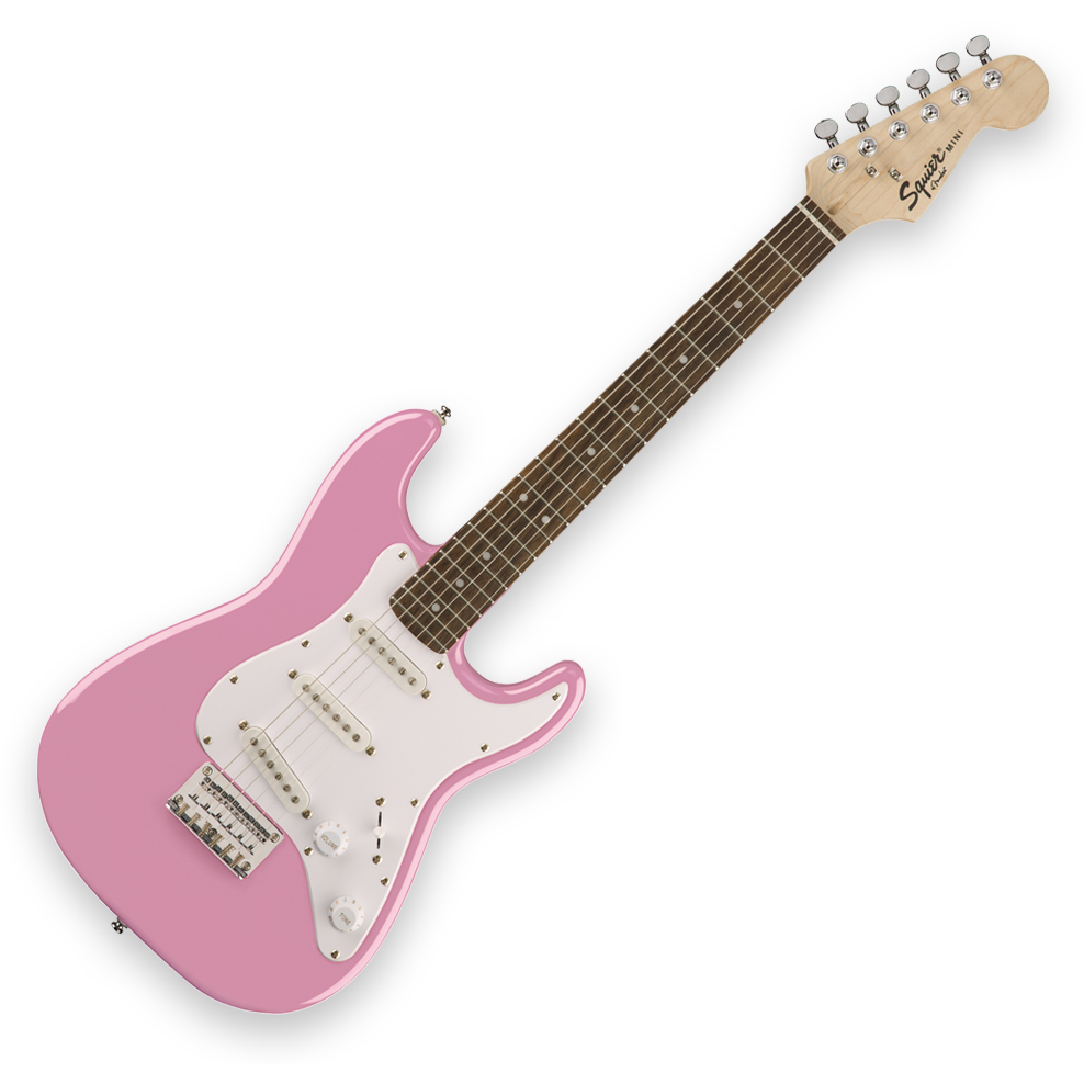 Squier Mini Strat - Laurel Fingerboard - Pink