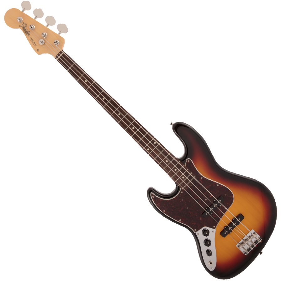 Fender Made in Japan Traditional 60s Jazz Bass - Left-Handed - Rosewood Fingerboard - 3-Color Sunburst