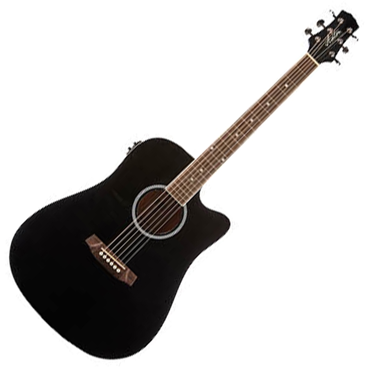 Ashton D20CEQ BK Dreadnought Cutaway Acoustic Guitar with EQ - Black