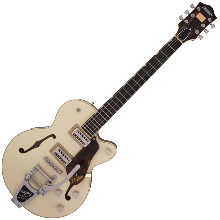 Gretsch G6659T Players Edition Broadkaster Jr. Center Block Single-Cut with String-Thru Bigsby - USA Full'Tron™ Pickups - Ebony Fingerboard - Two-Tone Lotus Ivory/Walnut Stain