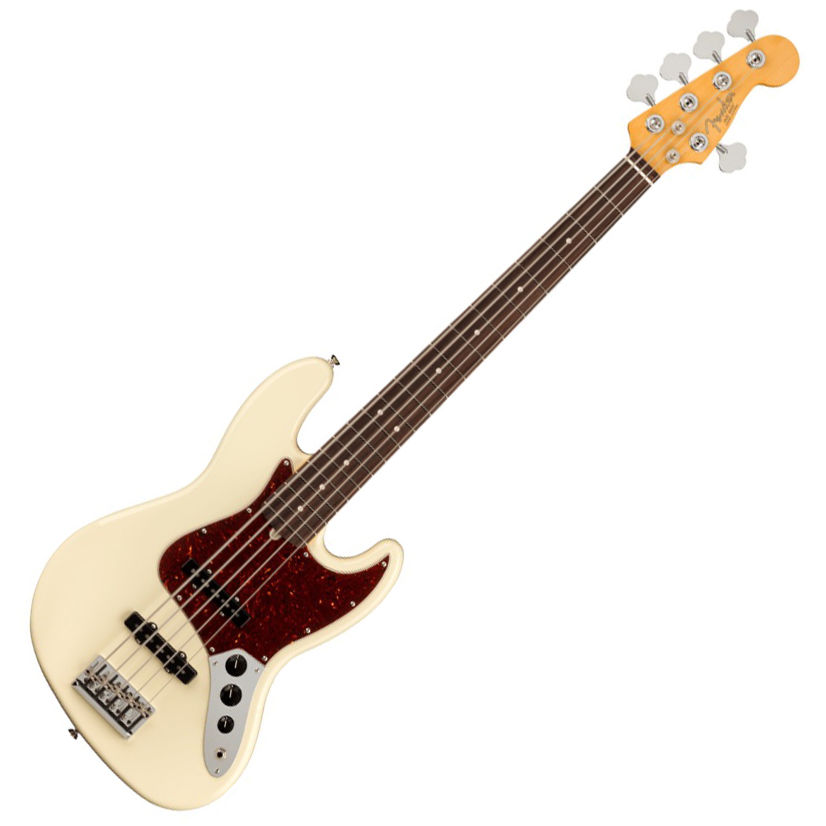 Fender American Professional II Jazz Bass V - Rosewood/Olympic White