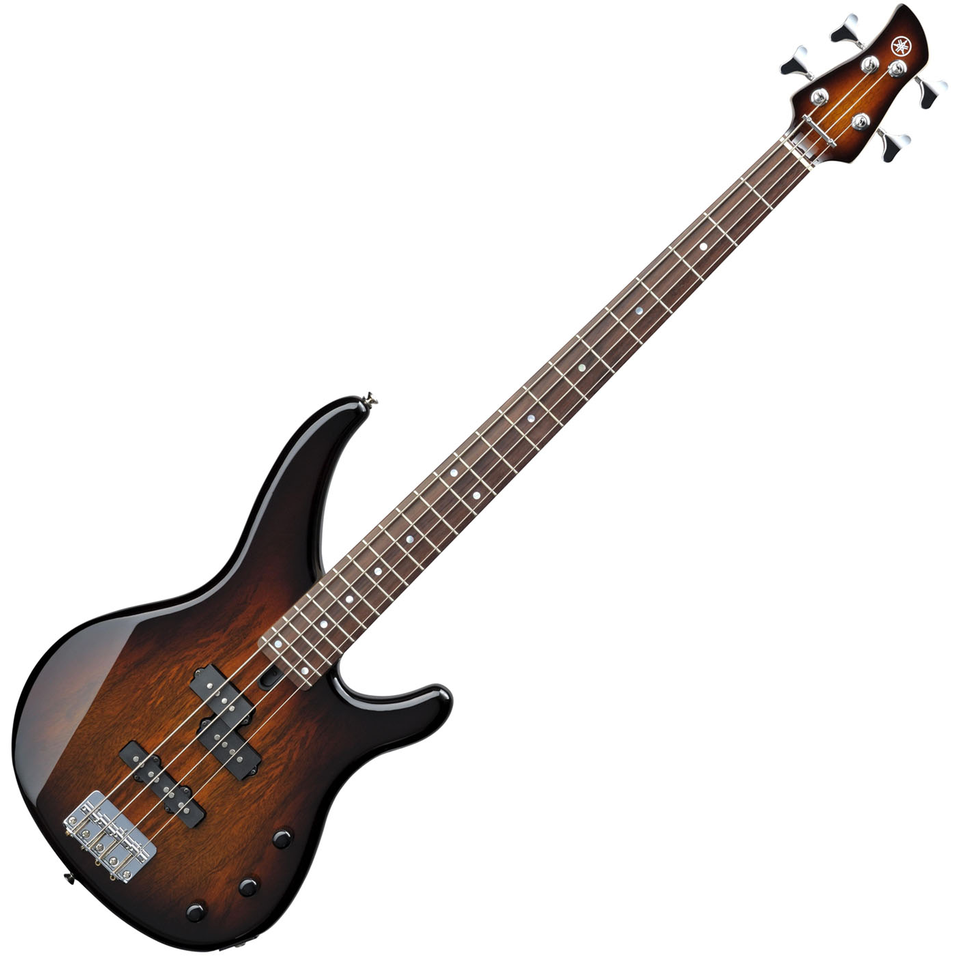 Yamaha TRBX174EW Exotic Wood Bass Guitar - Tobacco Brown Sunburst